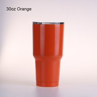Wholesale Wholesale Copper Cup - DHL 30 oz 30oz Tumbler Cups Bright Green Bright Purple Bright Red Copper Leopard Camo Stainless 10oz 12oz 20oz Cups Large Capacity Stainless