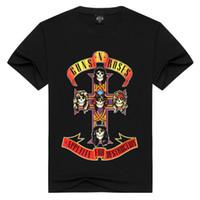 camiseta da rosa 3d venda por atacado-2017 T-shirt dos homens Guns N 'Roses Americano Lendário Hard Rock Band Armas e Rosa de Manga Curta T Camisa de Impressão 3D Tops Masculinos