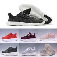 Wholesale Flat Cardboard - HOT sale Tubular Shadow 3D Running Shoes Knit Core Triple Black White Cardboard Women Men runner 350 Boost Sports Sneaker Size 36-45