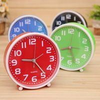 Wholesale Mini Clock Faces - Wholesale-2016 New Creative Child Home Mini Candy Color Round Face Silicone Digital Alarm Clock reloj despertador Smile