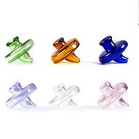 Wholesale Quartz Wholesale - Volcanee Colored Glass Carb Cap banger For Less 35mm domeless Quartz Banger Nail 2mm 3mm 4mm Thick Enail Domeless Nails Dab Rig