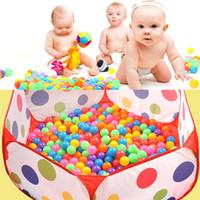 gelkugeln spielzeug großhandel-5,5 CM Baby Kinder Wachsen Ozean Ball Spielzeug Wasser Spaß Sand Spielen Ball Perlen Gel Jelly Multi Farbe Weihnachten Hochzeit Party Decor WX-C16