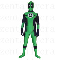 Wholesale Catsuit Custom - Round eyes Green Lantern Deadpool Custom Superhero Costume Halloween Party Cosplay Sexy Costumes Catsuit Zentai Suit