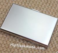 Wholesale Stainless Steel Name Holders - Free shipping stainless steel business high quality mirror name card case , personlized logo is available,No scratch