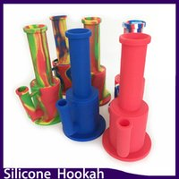 Wholesale Shisha Water Filter - Silicone shisha hookah Water Pipes Silicone pipe body with filter glass bowl fit twisty glass blunt 0266164