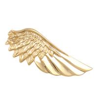 pin clip de corbata al por mayor-Brand New Gold Wing Tie Clips para hombres Lawyer Gift Tie Pins alfileres Vintage Corbata Base Clip Corbata Pince Cravate Mariage puede Clip