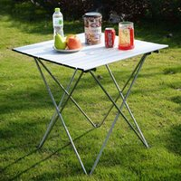 Wholesale Aluminum Roll Up Table Folding Camping Outdoor Indoor Picnic W Bag Heavy Duty OP2789