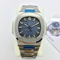Wholesale Gents Bracelets - Top 1:1 Quality PP Sport Nautilus Cal.324 SC 5711 1A Blue Dial Automatic Mens Watch 5711 Stainless Steel Bracelet New Gents Watches AAAAA+