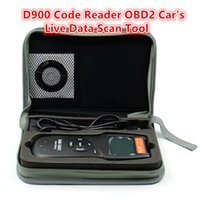 Wholesale Dtc Audi - Wholesale- OBDII EOBD Universal D900 Code Reader OBD2 Scanner Version 2015 Latest CAN-BUS Live Data DTC OBD Check Engine Multi-Brand Cars