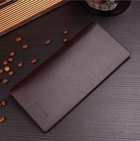 Wholesale Value Promotions - 2017 New Men Long Wallet Youth Multi-card Bit Ultra-thin Leather Clip Card Package Special Value Promotions