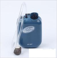 ingrosso pompa dell'acquario del serbatoio dei pesci-Moda Plastica Portatile Acquario Pompe ad aria Serbatoio Aeratore per pesci Batteria ad ossigeno Pompa ad aria Resistente all'acqua Pesca con esche vive