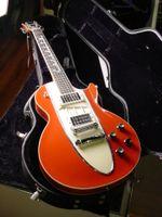 Wholesale guitars corvette resale online - Custom Shop s Corvette Chevrolet Orange Red Electric Guitar Cross Flags Headstock Chrome Hardware