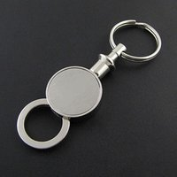 Wholesale Logo Giveaway - Silver color custom logo giveaway trousers waist clasp metal keychain