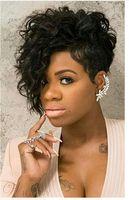 peluca rizada corta venta al por mayor-Peluca rizada caliente de la venta de los estilos del pelo rizado corto Pelucas de pelo sintéticas rubias Peluca rizada rizada de las mujeres pelucas rizadas cortas para las mujeres negras