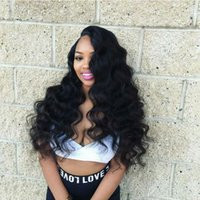 Wholesale grade 7a peruvian wavy wigs resale online - Glueless Full Lace Wigs For Black Women Human Hair Lace Front Wigs Brazilian Wavy Top Quality A Grade Human Hair Natural