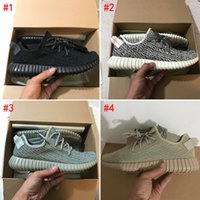 Wholesale Tan Mens Shoes - [With Box]2017 New Version Boost 350 V1 Running Shoes Sport Turtle Dove Moonrock Xford Tan Pirate Black Mens Womens Shoes Size US5-13