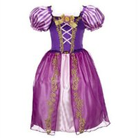 Wholesale Cinderella Snow New Cartoon - 2017 New Summer Cinderella Dress Baby Girl Snow White Clothes Kids Party Cosplay Dress Children Clothing 2 3 4 5 6 7 Years Old