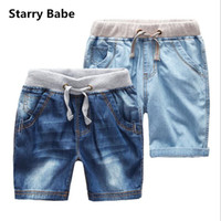 Wholesale Denim Shorts For Kids - KID Shorts Summer Children Denim Jeans Short Boys Casual Jeans Short Pants Children Trousers Clothing Free Shipping For 2-12T
