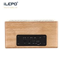 Wholesale Ten Phones - Wood Case TF card Outdoor Top Mobile Big Recommended Portable Top Ten Great Portable Bluetooth Speaker for Phones