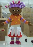 Wholesale iggle piggle adults costume - Free Shipping Iggle Piggle and Upsy Daisy Mascot costume Adult Size! Halloween Party Children's Fancy Dress, factory d