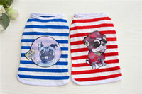 Wholesale Dog Cooler - Muti Color Strip Cool Vest Dog Pattern Puppy Dog Clothes