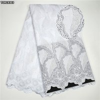 Wholesale Voile Lace Materials - Best Quality African Swiss Lace Fabric Wholesale 100% Cotton Swiss Voile Lace Material Africa lace fabric white for sewing clothes TCR193