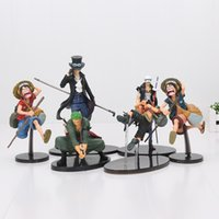 SCultures BIG One Piece Pop Figura de ação Brinquedos Monkey D Luffy Ace Trafalgar Direito Roronoa Zoro Sabo Collectible Model Toy 16-22cm