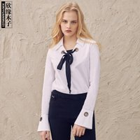 Xinyuan Muzi Весенняя одежда Новый продукт V Type Lapel Lotus Leaf Sleeve Jacket Woman Fashion Chalaza Joker Shirt 3010519
