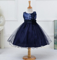Wholesale Child Wedding Dresses - Girl Sequined Formal dress Evening Gown Flower Wedding Princess Dress Girls Children Clothing Kids Dresses for Girl Clothes Tutu Party Dress