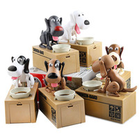 Wholesale Money Saving Pots - Cartoon Dog Model piggy bank Eat Bank Money Save Pot Saving Coin Box Creative Gift can't resist Taste So Good I Love money freeshippingC2678