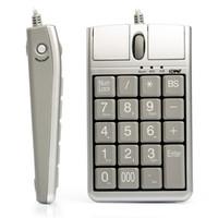 scrollrad usb optisch großhandel-2 in 1 iOne Scorpius N4 Optische Maus USB-Tastaturen, verkabelt 19 Numerische Tastatur mit Mausrad für die schnelle Dateneingabe USB-Tastaturmaus