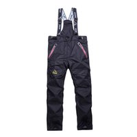 Wholesale High quality Winter Men Warm Pants Skiing Snowboard Outdoor Sport Hiking Trousers Grey Camping Climbing Breath Snow Thicken pant