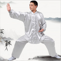 Wholesale Wushu Clothes - New Chinese Kung Fu uniforms Long sleeve Tai Chi clothing South Korea Martial Arts Costume wushu Performance Suit 7Colors Outdoor Apparel