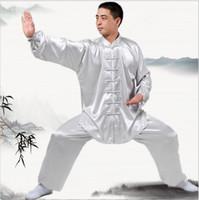 ropa wushu al por mayor-Nuevos uniformes de Kung Fu de China de manga larga ropa de Tai Chi Corea del Sur Traje de artes marciales wushu traje de rendimiento 7 colores de la ropa al aire libre