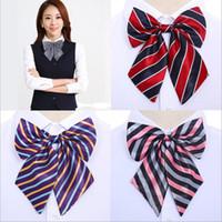 Wholesale tie dye cravat for sale - Group buy Women s Grid Bowknot Bow Tie Rayon Business Ladies Uniform Neckwear Flower Hot Sale Womens Cravat Bow Ties