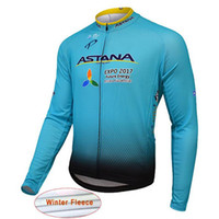 Wholesale women s coat thermal - 2017 ASTANA Men Winter Thermal Fleece Cycling Jersey Long Sleeve Warm Bicycle Clothes Outdoor Sport bike Coat L2101