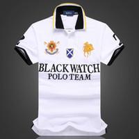 özel gömlekler toptan satış-İndirimli polo gömlek Toptan erkekler tshirt SIYAH İZLE POLO EKIBI Özel Fit S M L XL XXL 2XL