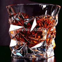 Wholesale Whiskey Crystal Set - 2 PCS   Set Square Crystal Whiskey Glass Cup For the Home Bar Beer Water and Party Hotel Wedding Glasses Gift Drinkware