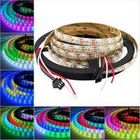 Wholesale Wholesale Black Light Leds - 5m WS2812B Smart led pixel strip Light Black White PCB,30 60 144 leds m WS2812 IC WS2812 M 30 60 74 pixels IP30 IP65 IP67