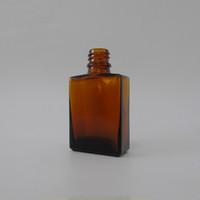 Wholesale 15ml amber dropper bottle - Amber essential oil glass dropper bottle 30ml 15ml e liquid bottle perfume square ejuice glass bottle child proof e liquid