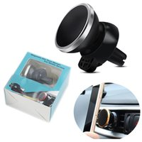 Wholesale Universal Air Condition - Car Air Outlet Magnet Mobile Phone Holder 360 Degree Rotate Navigation Air Conditioning Mouth Magnetic Phone Support