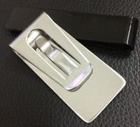 Money Wallet Clip Clamp Card Stainless Steel Holders Credit Name Cards Holder