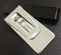edelstahl-geldbörse großhandel-sehr guter Preis Schlank Geld Brieftasche Clip Clamp Card Edelstahl Halter Kredit Name Kartenhalter