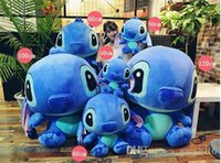 Wholesale Pillow Toy Stitch - New Arrival Hot Selling Stitch Dolls Pillow Children's Toys Birthday Present Plush Toys Sleep Pillow Action Figure Free Shipping