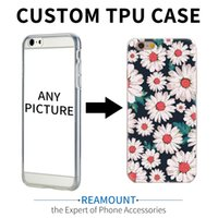 Wholesale Unique Clip Cover - 100pcs Unique Personalized Customized DIY Printing transparent clear TPU Cover Case for Apple iPhone 7 7 plus 6 6s Plus 5