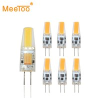 Wholesale G4 Led For 12v Ac - Wholesale- Mini LED G4 COB Light Bulb 6W 3W AC DC 12V Dimmable Lamp Replace for Crystal Halogen Chandelier Lights at Home