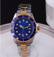 Wholesale Diver Clock - top quality automatic date luxury fashion men and women of the steel belt movement quartz clock men watch