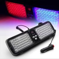 Wholesale Emergency Visor Light 86 Led - 12 Modes 86 LED Emergency Warning Car Auto Visor Police Strobe Light Blue Red