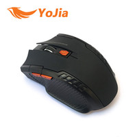 Wholesale Gaming Laptop Wireless - Wholesale Wireless Mouse 2.4G USB Optical Computer Gamer Mice 4 Buttons Gaming Mouse For PC Laptop Desktop 1600