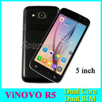 Wholesale Unlocked 3g Smartphones - 5 inch R5 MTK6572 Dual Core Android 4.4 Dual SIM Smartphones 3G Unlocked 512MB 4GB Mobile phones Smart Wake with free case
